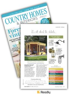 Suggestion about Country Homes & Interiors Jul 2018 page 95 Country House Interior, Country Homes, Interiors, Lights, Life, Country Cottages, Decoration Home, Lighting, Decor