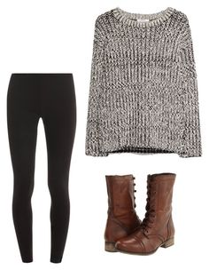 """""""Untitled #1"""" by maddiekrolow ❤ liked on Polyvore featuring Splendid, MANGO and Steve Madden"""