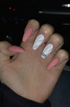 In seek out some nail designs and some ideas for your nails? Here's our listing of must-try coffin acrylic nails for stylish women. Marble Acrylic Nails, Summer Acrylic Nails, Best Acrylic Nails, Water Marble Nails, White Acrylics, Summer Nails, Aycrlic Nails, Coffin Nails, Pink Coffin