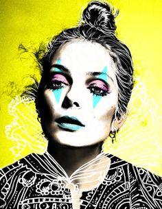 #sofiacastellanos #digitalart #illustration #iloveit #fashion #circus #clown #queen #dope #artist