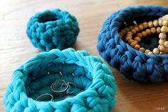 Eco-friendly baskets set of 3 jewelry dish blue door larbotriki