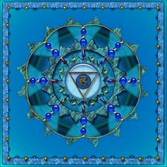 Vishudda - Blue Throat Chakra - by GoldenIsis on RedBubble