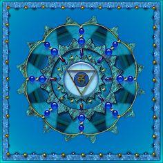 Vishudda - Blue Throat Chakra - by GoldenIsis on RedBubble