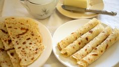 Get Lefse Recipe from Food Network Cracker Cookies, Instant Potatoes, Flatbread Recipes, How To Cook Potatoes, Small Cake, Kefir, Potato Recipes, Food Network Recipes, Food And Drink