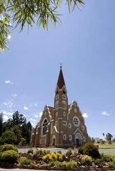 German style church in Namibia Africa Cathedral Church, My Church, Enjoying Life, Church Building, Influential People, Mosques, Place Of Worship, Kirchen, Amazing Architecture