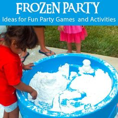 Throwing a Frozen Birthday Party? We have ideas for fun DIY Frozen Party Games and Activities including DIY Play Snow, Troll Slime, Snow Cones and more!