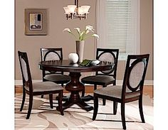 Dining Room Group by RiversEdge is crafted in hardwood solids and birch veneers with rich cherry finish gives depth, color and clarity to the wood. Dinning Room Tables, Dining Room Furniture, Home Furniture, Dining Chairs, Arrange Furniture, Dining Set, Dining Rooms, Cherry Furniture, French Country Dining