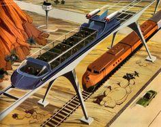 tomarrrrows transportation  Retro-futurism in French Children's Encyclopedias, 1945-1975 - Retronaut