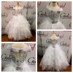 Beautiful Off The Shoulder White Little Girls Pageant Dress Judges Will For Sure