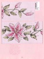 Beaded Cross Stitch, Cross Stitch Borders, Cross Stitch Flowers, Cross Stitch Embroidery, Cross Stitch Patterns, Roses And Violets, Flower Coloring Pages, Ribbon Embroidery, Blackwork
