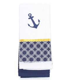 Look at this White & Navy Circles Dish Towel on #zulily today!