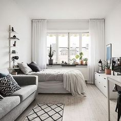Large size of small studio apartment interior design ideas living home decor apartments and that boost Tiny Studio Apartments, Studio Apartment Layout, Studio Layout, Studio Apartment Living, Small Apartment Layout, Modern Apartments, Furniture For Small Apartments, Apartment Therapy, Studio Apartment Furniture