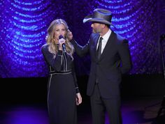 Faith Hill Photos Photos - Singers Faith Hill and Tim McGraw perform onstage during Lincoln Center's American Songbook Gala at Alice Tully Hall on February 1, 2017 in New York City. - Lincoln Center's American Songbook Gala - Inside
