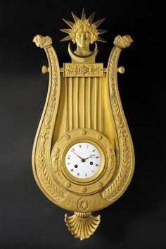 Cartel Clock, Paris, c.1800-1810 gilded bronze