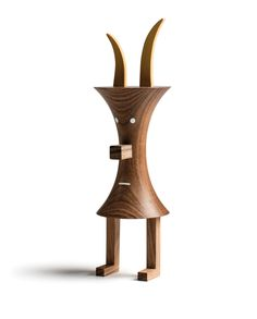 Wooden sculpture FUNNY FARM by LZF design Isidro Ferrer