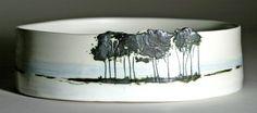 Jill Ford Ceramics - Landscape oval dish