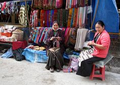 Tibetan women in the exile community of McleodGanj, HP, India  Copyright Tammy Winand