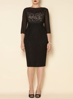 Swan By Clements Ribeiro Lace Grace Dress - Bestsellers - Shop By - Evans US   #plus-size