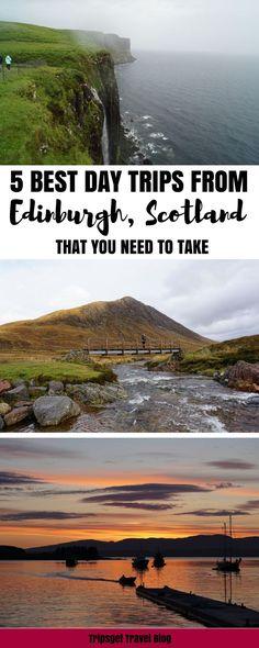 Best day trips from Edinburgh, Scotland. Edinburgh day trips. Edinburgh excursions. Travel in Europe.
