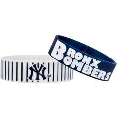 New York Yankees MLB Bulk Bandz Bracelet 2 Pack