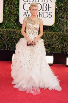 Julianne Hough Golden Globes 2013.  This could be bridal!