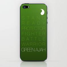 Green Ajah - Robert Jordan's The Wheel of Time iPhone & iPod Skin by MegRay - $15.00.  Okay.  I'm a nerd.