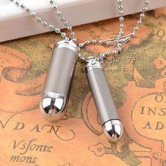 Bullet mens necklace pendant women soldiers couples | punk rock necklaces