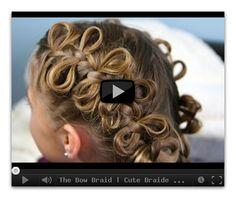 The Bow Braid | Cute Braided Hairstyles