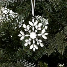 Buy John Lewis Croft Collection Jewelled Snowflake Online at johnlewis.com