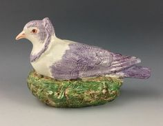 Staffordshire figure of a dove nesting. Enoch Wood, c. 1830. Rare figure.  | eBay Repair to tail feathers - please see images. Otherwise perfect. £169