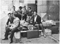 1961 arrivo di immigrati alla stazione Porta Nuova , Torino
