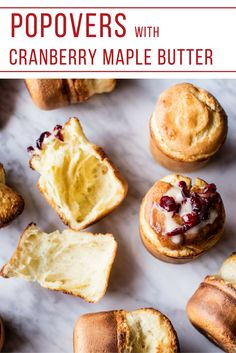 Popovers with Cranberry Maple Butter | The Inspired Home