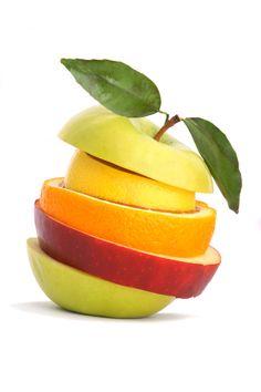 Mix de frutas sempre é gostoso.