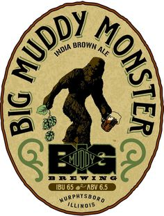 Big Muddy Monster  American Brown Ale  6.5% Alcohol by Volume  65 IBU
