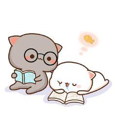 Ala nhhh mashem bini😂am ewara hamana😛be to naxosh Cute Animal Drawings Kawaii, Cute Cartoon Drawings, Cute Kawaii Animals, Kawaii Cat, Kawaii Chibi, Cute Chibi, Kawaii Drawings, Cute Cartoon Images, Cute Couple Cartoon