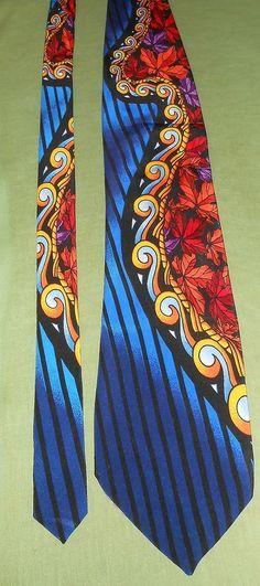 """Rush Limbaugh No Boundaries Men's Neck Tie Multicolor Autumn Leaf Design 62"""" #RushLimbaugh #Tie"""