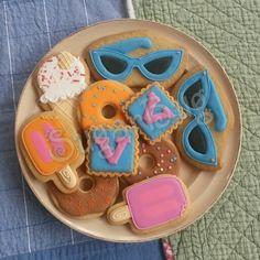 Fun fair pool party cookies