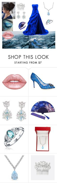 """""""Lady by the Sea"""" by cheyenne6796 ❤ liked on Polyvore featuring Dolce&Gabbana, Paul Morelli, Bling Jewelry, Lord & Taylor, Amour and Avenue"""