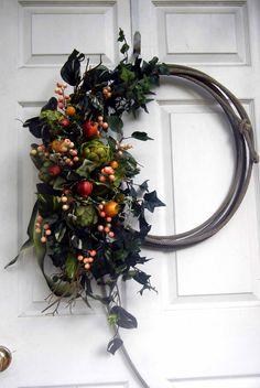 Summer Wreath-Front Door Wreath-Lariat Wreath-Year Round Wreath. $99.00, via Etsy.