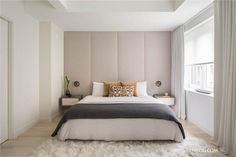 West Village Duplex is a private residence created by Manhattan interior design firm NYC Interior Design. NYC Interior Design recently completed a renovati Modern Master Bedroom, Master Bedroom Design, Home Bedroom, Bedroom Wall, Bedroom Decor, Calm Bedroom, Modern Bedrooms, Trendy Bedroom, Bedroom Storage