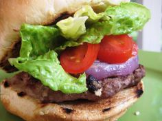 Feta Burgers with Grilled Red Onions