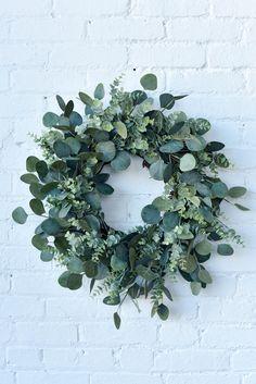 Spring Wreath, Mixed Eucalyptus Wreath, Greenery Wreath, Everyday Wreath, Farmhouse Wreath for Front Door Eucalyptus Centerpiece, Eucalyptus Wreath, Eucalyptus Shower, Eucalyptus Oil, Eucalyptus Wedding, Easter Wreaths, Holiday Wreaths, Yarn Wreaths, Floral Wreaths