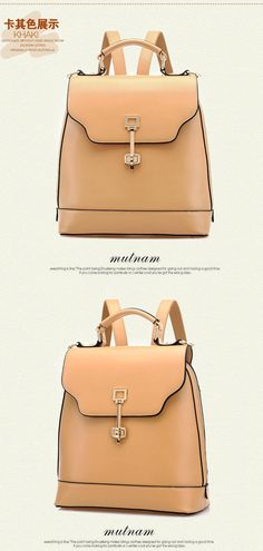 Faux-Leather Backpack - BeiBaoBao | YESSTYLE