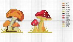 grille champignons - Blog de grilles-point-de-croix - Skyrock.com
