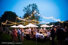 Christopher Duggan shares photos of Katie & James' rehearsal dinner designed by mStarr Event Design in the Berkshires, MA. Wedding Rehearsal, Rehearsal Dinners, Event Design, My Design, Katie James, Bistro Lights, Dolores Park, Reception, Making Memories