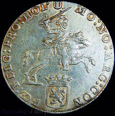 """Revolutionary War Era 1776 DUTCH """"HOLLAND"""" SILVER 1/2 RIDER DUCATON sku #DG11"""