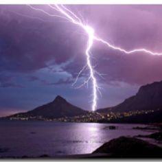 Lightening over Cape Town!!