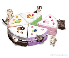 """The Whole Kitty Cake Cat Bed, 40"""" Diameter, 5 Color Slices *** Find out more about the great product at the image link."""