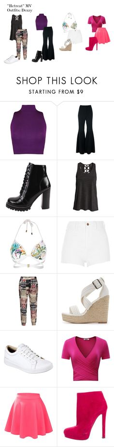 """""""""""Retreat"""" MV Outfits: Dezzy"""" by zhangmaryliu2002 on Polyvore featuring WearAll, STELLA McCARTNEY, Jeffrey Campbell, River Island, Charlotte Russe, Skechers, LE3NO and Alexander McQueen"""