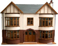 1930s Dolls House, nice style, design and detail. .....Rick Maccione-Dollhouse Builder www.dollhousemansions.com